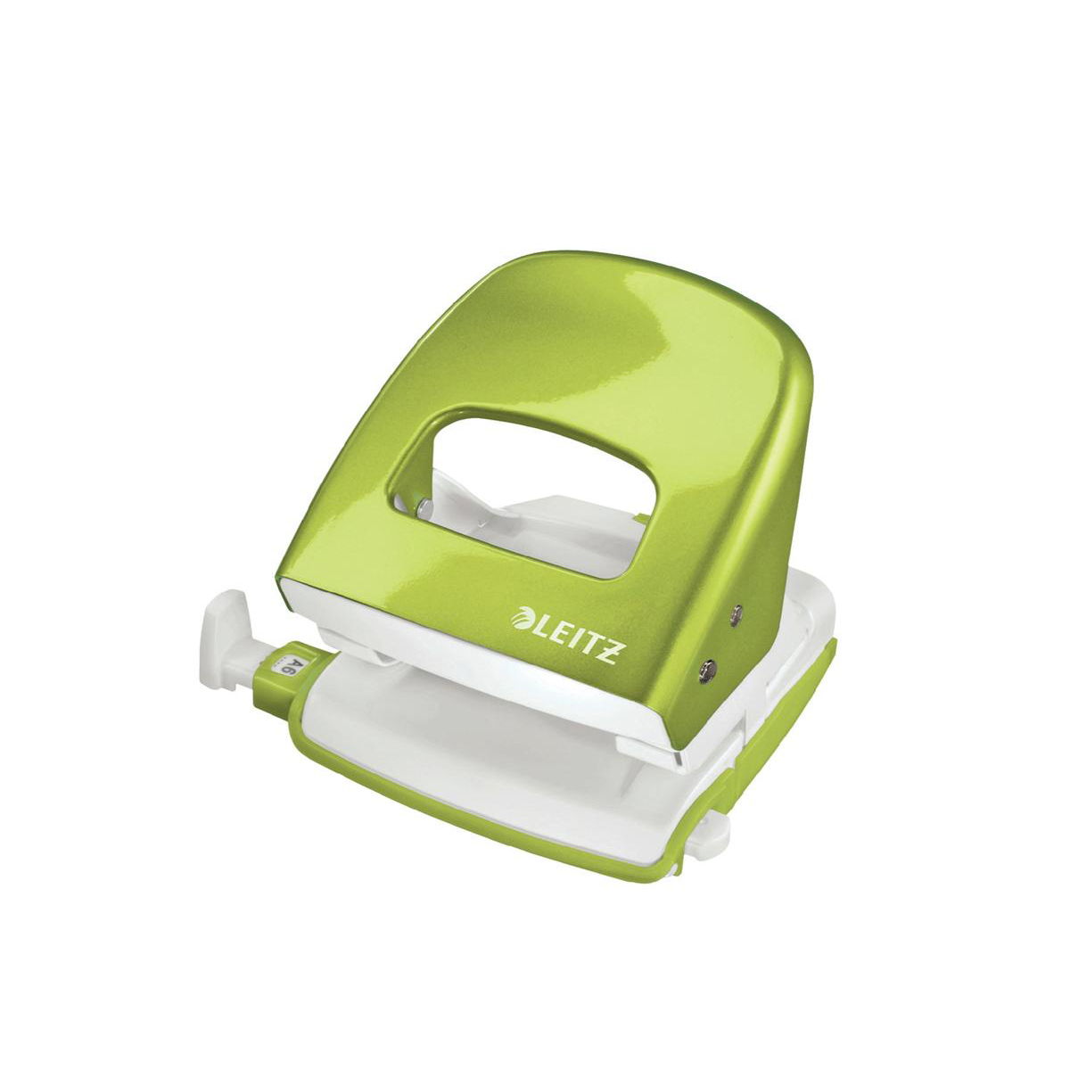 Leitz NeXXt WOW Hole Punch 3mm 30 Sheet Green Ref 50081064L