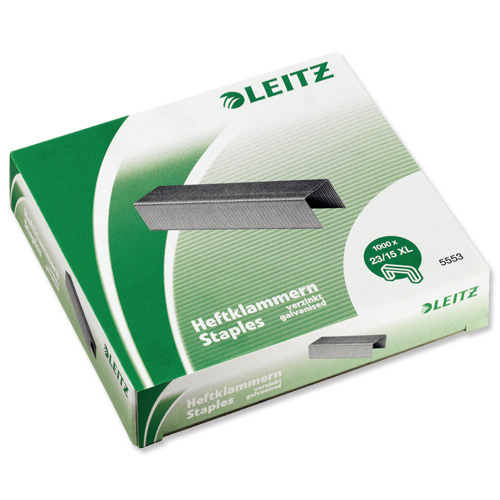 Leitz Staples 23/15XL Ref 55790000L [Pack 1000]