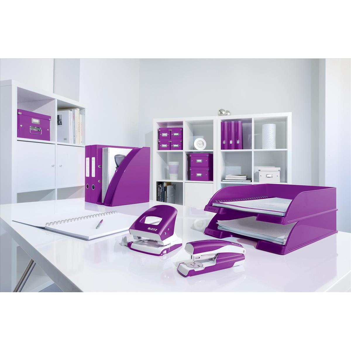 Leitz NeXXt WOW Stapler 3mm 30 Sheet Purple Ref 55021062 REDEMPTION Oct-Dec19