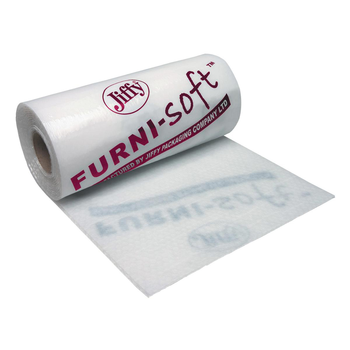 Work surface protection covers Jiffy Furni-soft Roll Soft Low Density Polyethylene Furniture Protection 1200mmx50m Clear Ref BLAM39561