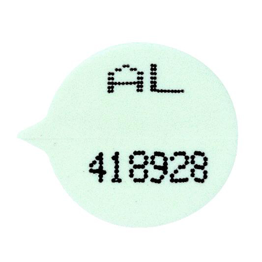 Numbered Round Security Seals White Pack 500