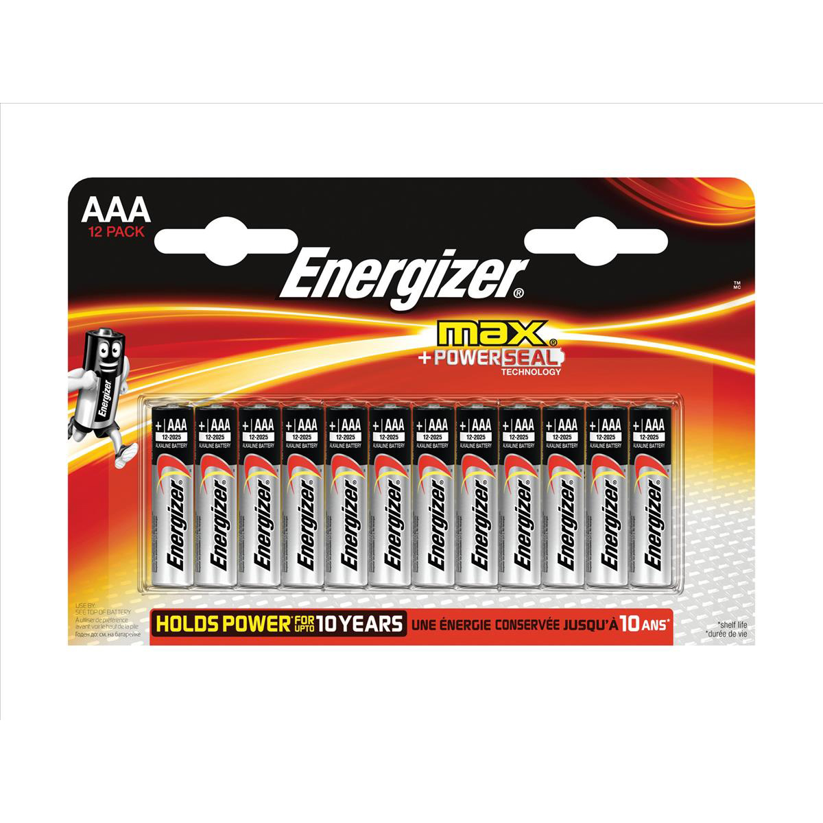 Energizer Max AAA/E92 Batteries Ref E300103700 Pack 12