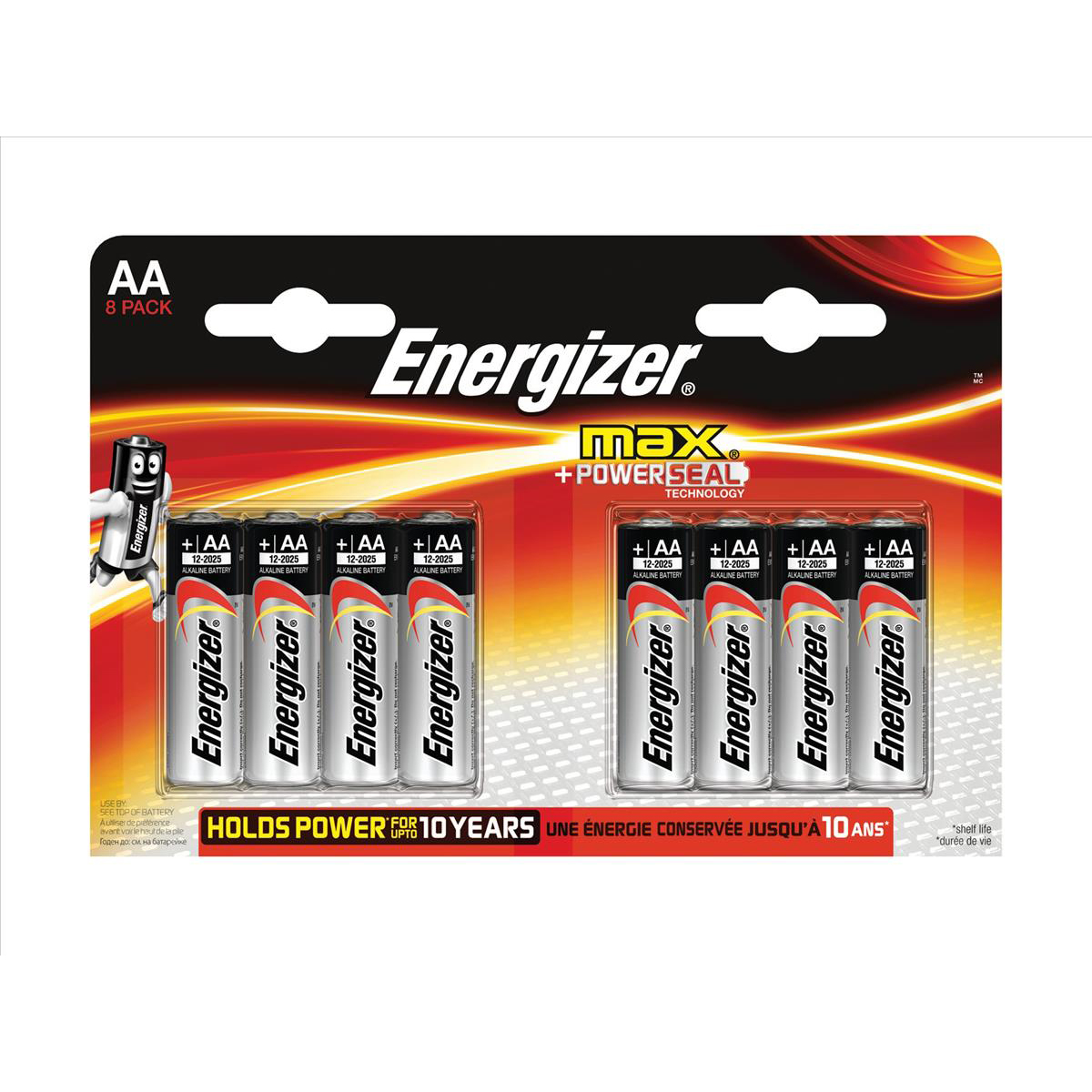 Energizer Max AA/E91 Batteries Ref E300112400 Pack 8