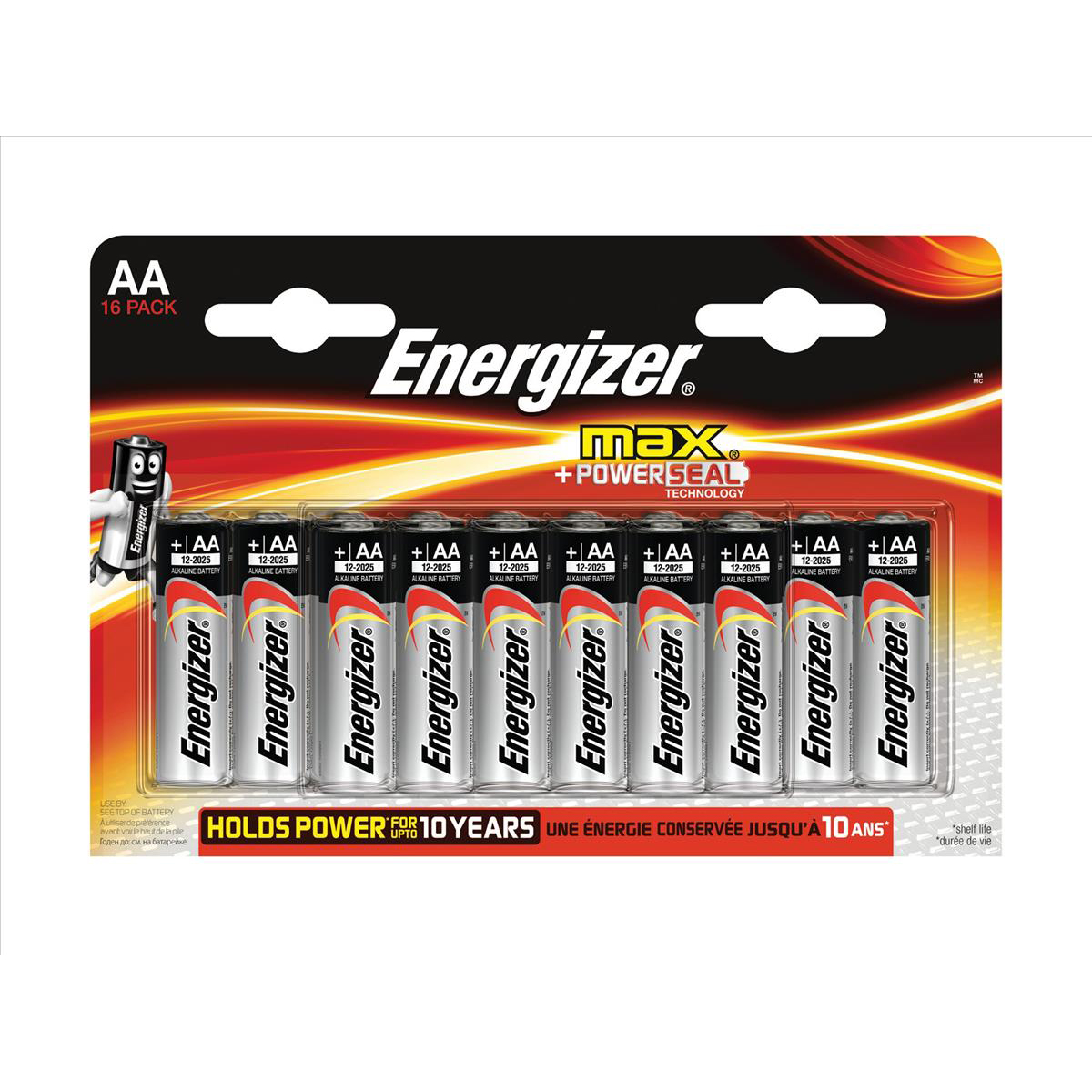 AA Energizer Max AA/E91 Batteries Ref E300132000 Pack 16