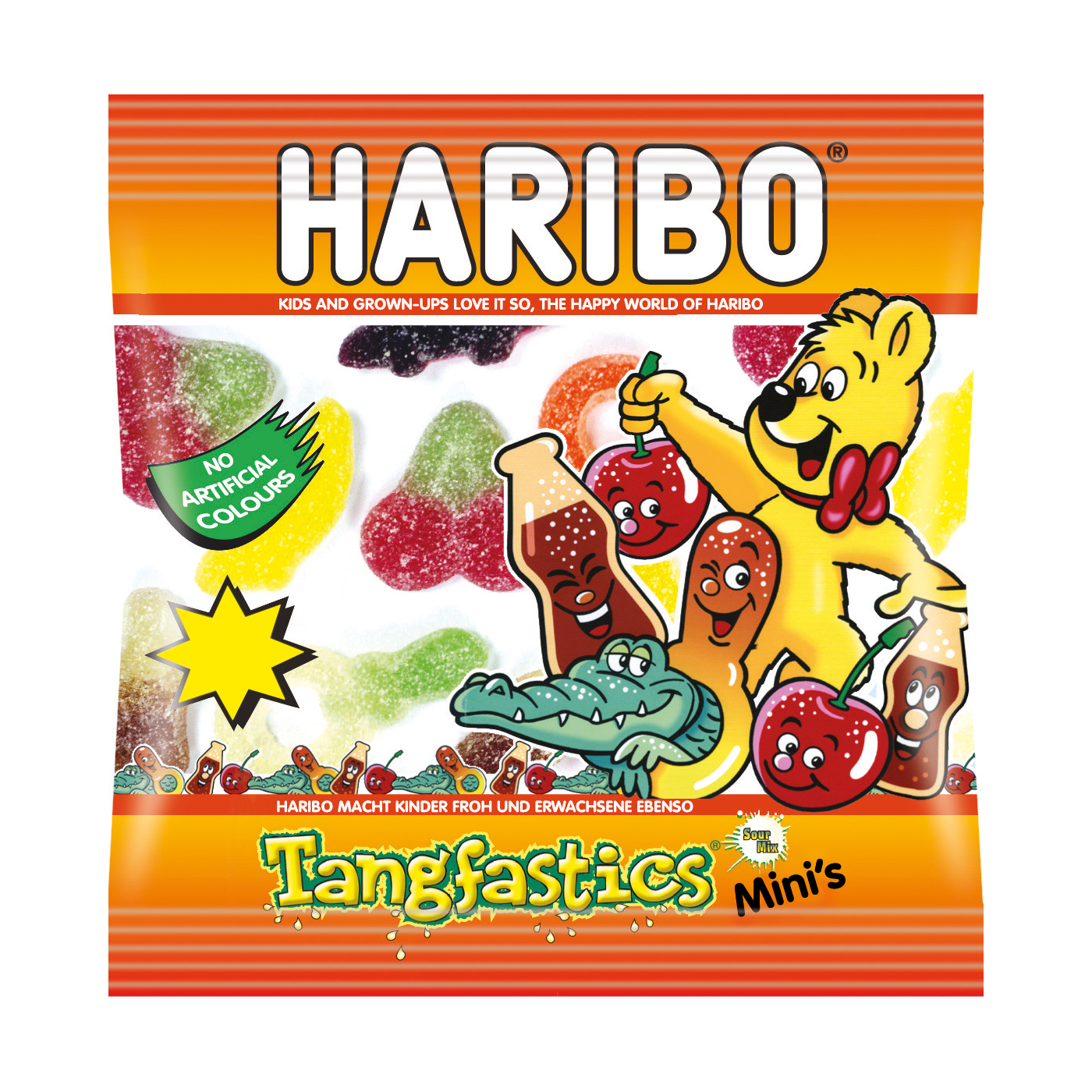 Sweets / Chocolate Haribo Tangfastics Small Bags Ref 73143 Pack 100