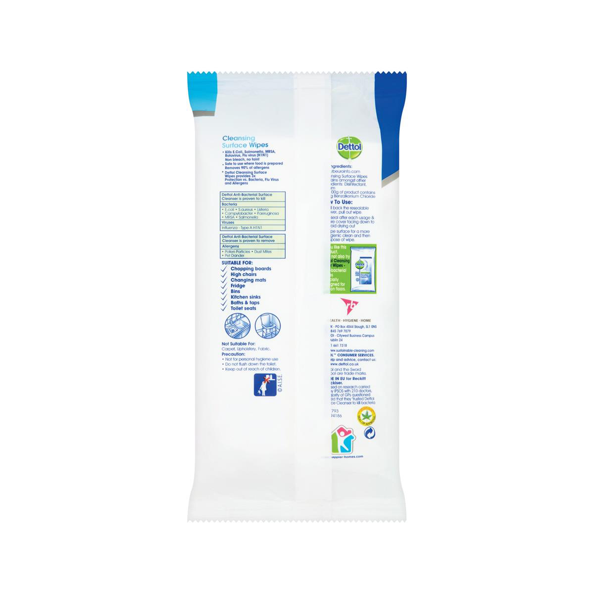 Dettol Antibacterial Surface Cleaning Wipes Ref 3007228 84 Wipes 3 for 2 Jul 2019