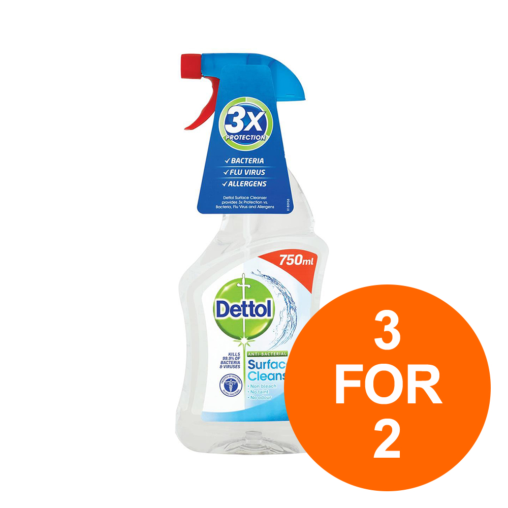 Dettol Surface Cleanser Spray 750ml Ref 147813 for 2 Aug 2019