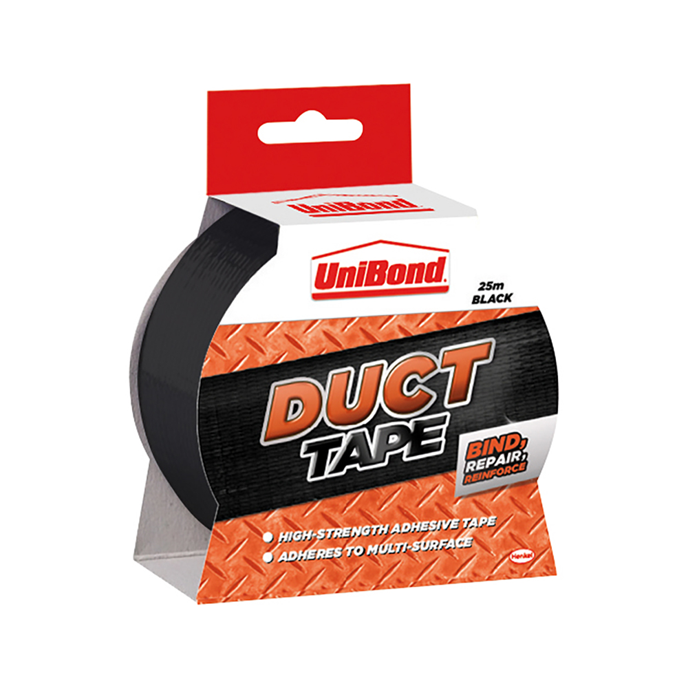 UniBond Duct Tape 50mm x 25m Black Ref 1517009 3 for 2 Jul 2019