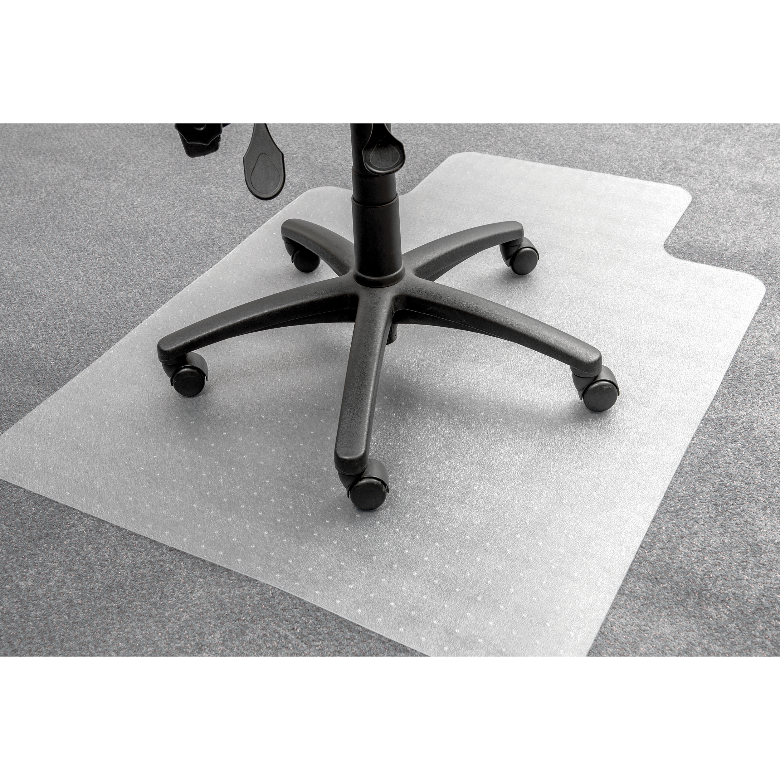 For Hard Floors 5 Star Office Chair Mat For Carpets PVC Lipped 900x1200mm Clear/Transparent