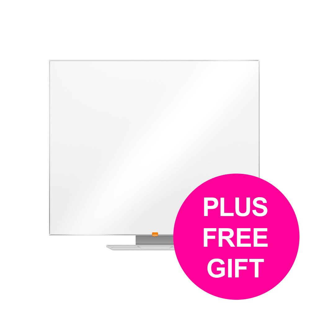 Dry erase boards or accessories Nobo Cls Nano Dwip Brd Magn Stl & Fixings Slim Frm W900xH600mm Wht Ref 1902642 [FREE User Kit] Jan-Mar 20
