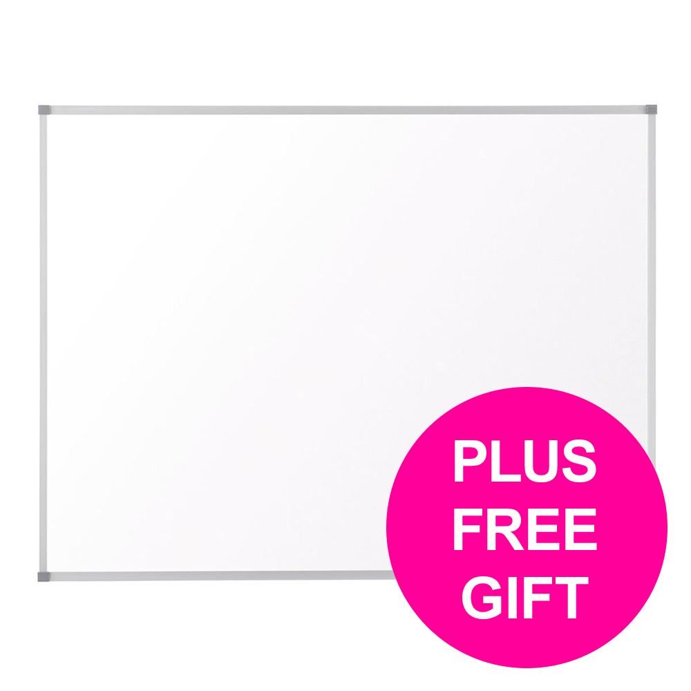 Dry erase boards or accessories Nobo Cls Nano Dwip Brd Magn Stl & Fixgs Slim Frm W1500xH1000mm Wht Ref 1902644 [FREE User Kit] Jan-Mar 20