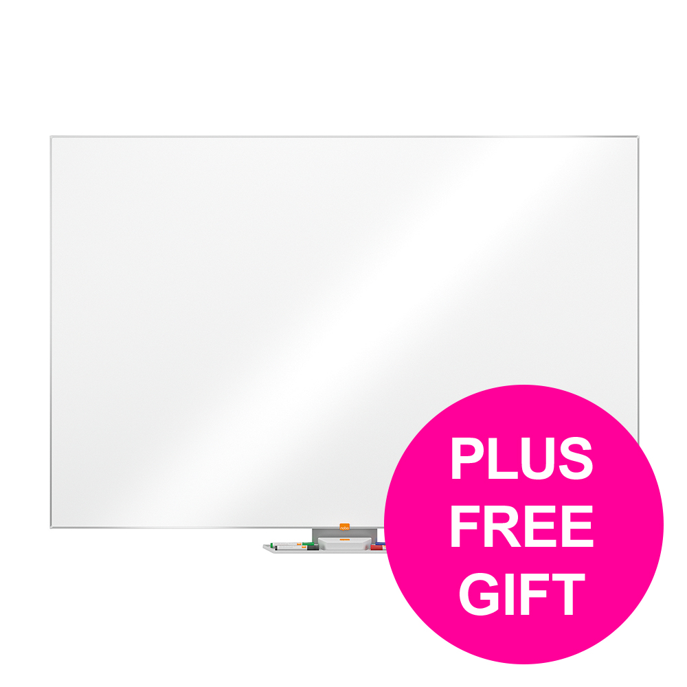 Dry erase boards or accessories Nobo Cls Nano Cln Dwip Brd Magn Stl & Fixgs Alum Frm W1800xH1200mm Ref 1902648 [FREE User Kit] Jan-Mar 20