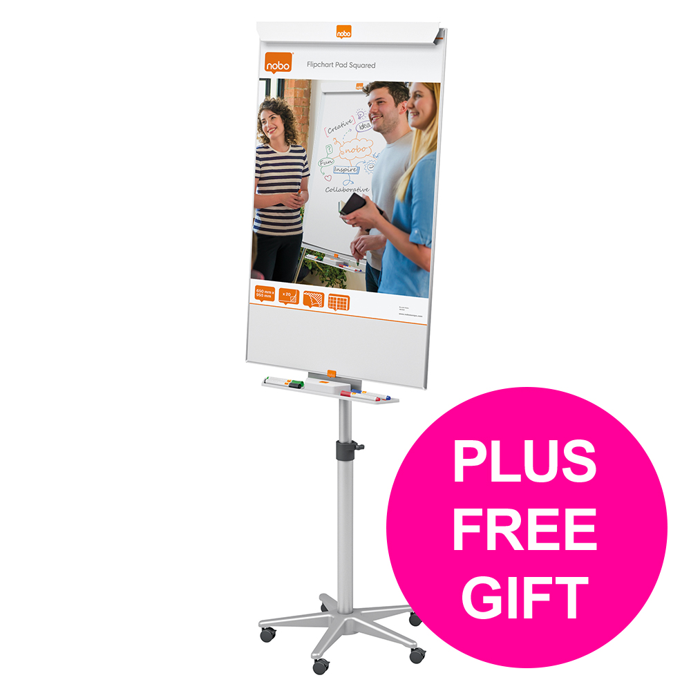 Metal easels Nobo Cls Nano Cln Mag Mob Easel Stl Ht-adj Brd 690x1000mm 690x1900 Ref 1902386 [FREE User Kit] Jan-Mar 20