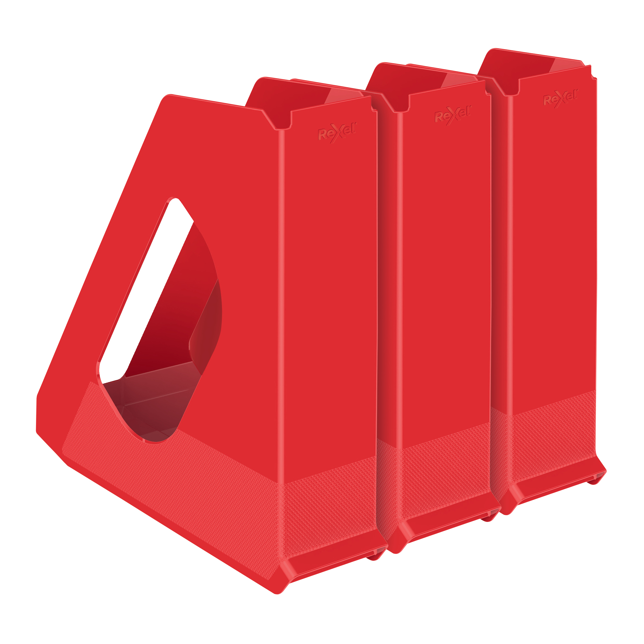 Rexel Choices Letter Trays A4 x3 & Mag Files x3 PP Red [Bundle Offer & FREE Matador Stapler] Jan-Mar 20