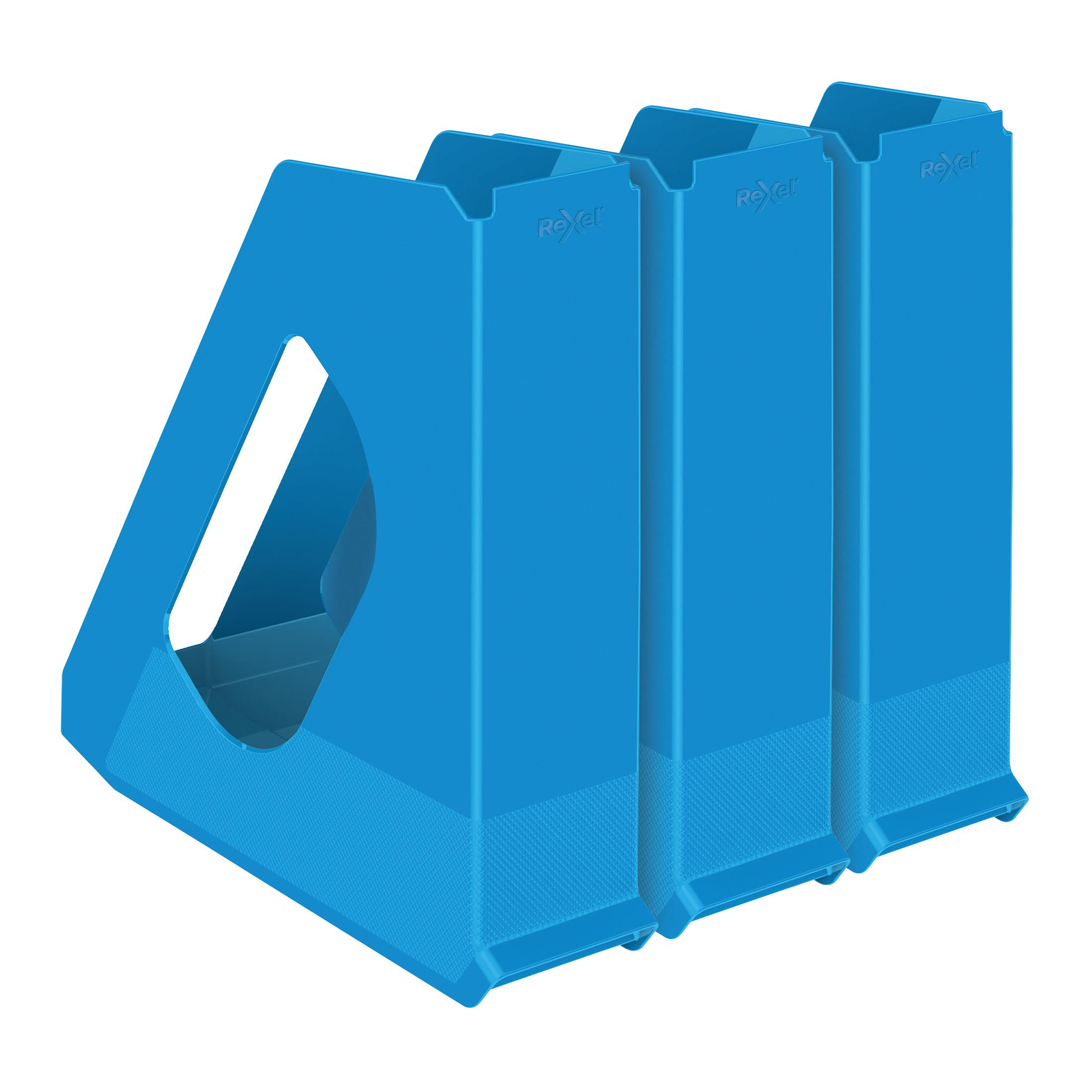 Rexel Choices Letter Trays A4 x3 & Mag Files x3 PP Blue [Bundle Offer & FREE Matador Stapler] Jan-Mar 20