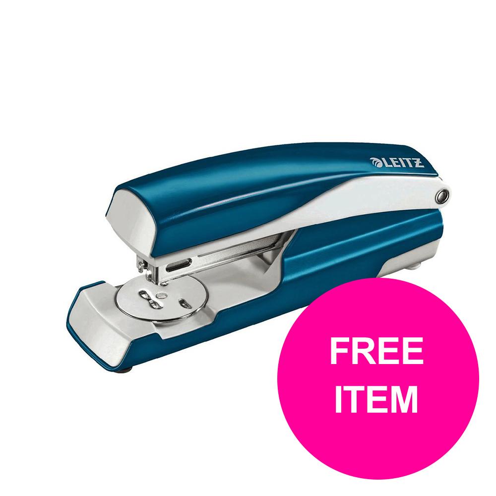 Leitz NeXXt 30 Sh Stapler Blue Ref 55021036 [FREE Leitz NeXXt Hole Pnch 30 Sh Blue] Jan-Mar 20