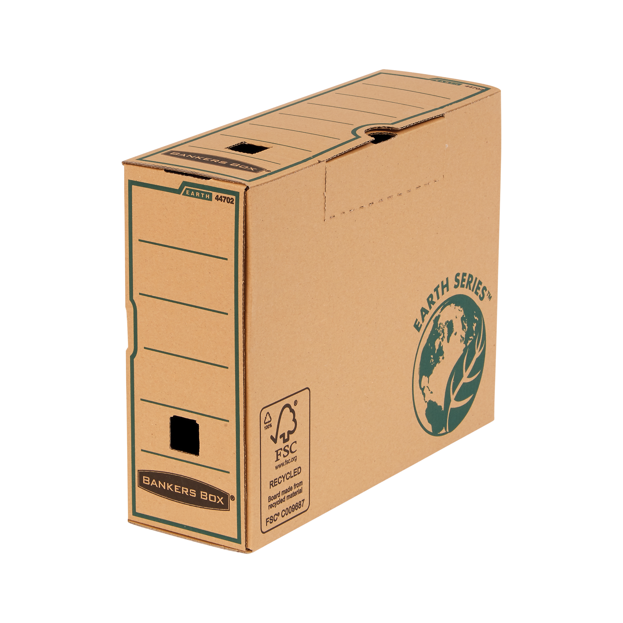 Bankers Box Earth Series by Fellowes Trnsf Box Files 100mm Brn Ref 4470201 [Pack 10] [2 for 1] Jan-Mar 20