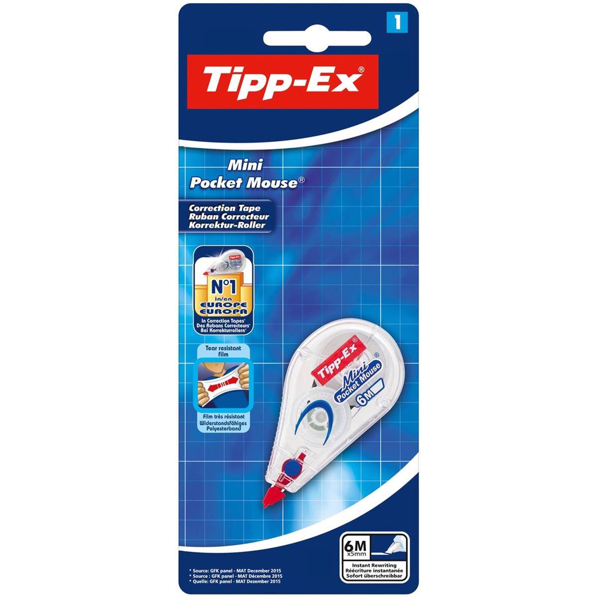 Tipp-Ex Mini Pocket Mouse 6mx5mm Ref 932564 [Pack 10] [3 for 2] Jan-Mar 2020