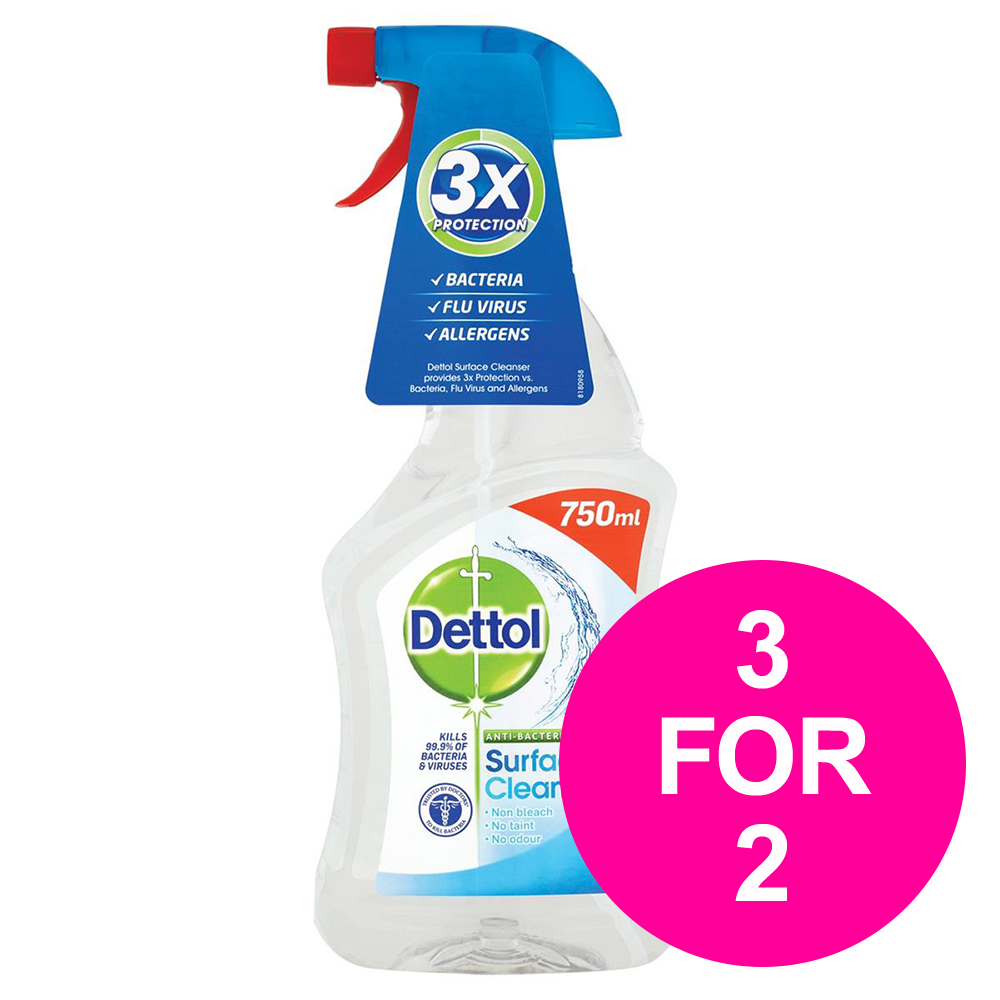Dettol Surface Cleanser Spray 750ml Ref 14781 [3 for 2] Feb 2020