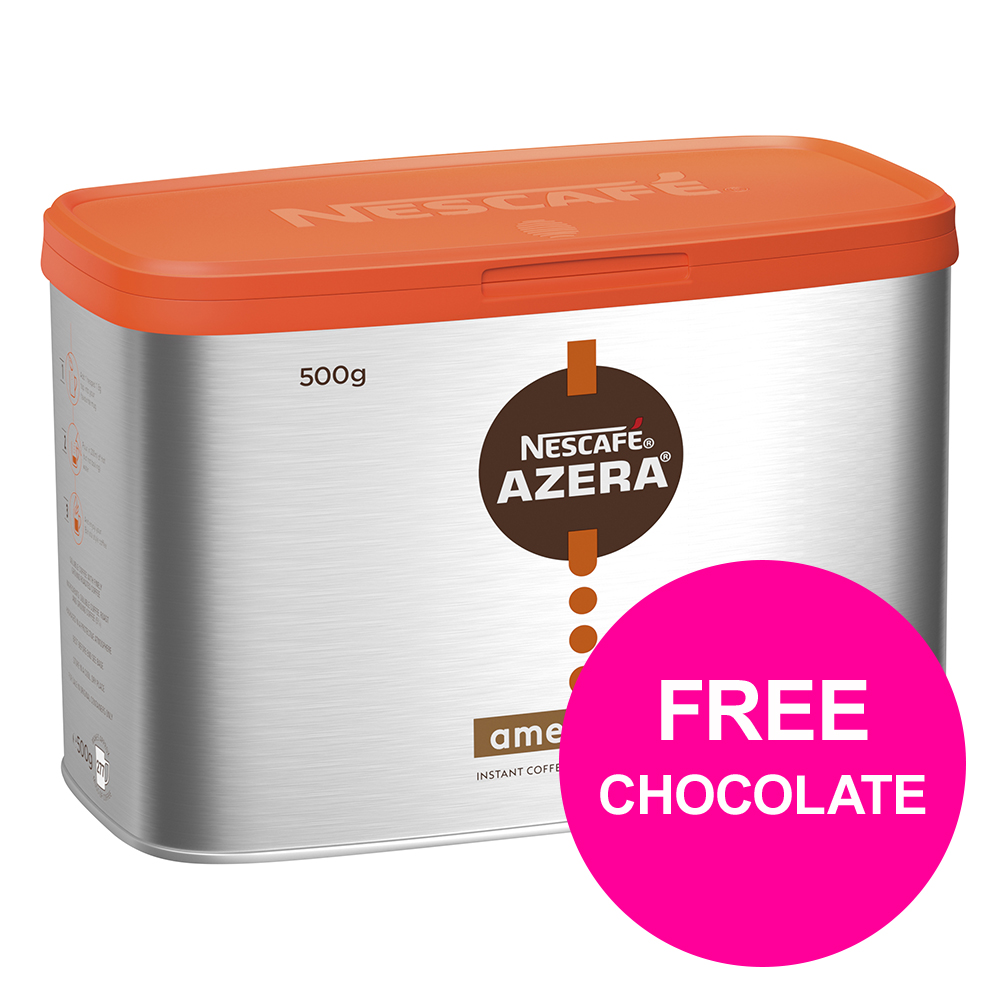 Instant coffee Nescafe Azera Instant Americano 500g Ref 12284221 [Buy 2 get Free YES! Sea Salt Dark Choc Pk24] Mar 2020