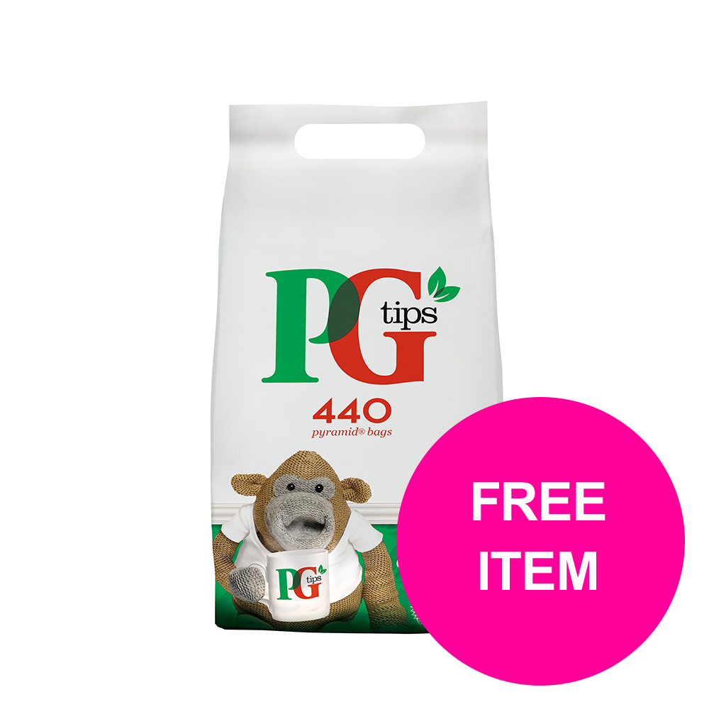 Tea bags PG Tips Tea Bags Pyramid Ref 67395657 [Pk 440] [Buy 2 Get Free Haribo Giant Strawbs Bag 180g] Jan-Mar 20