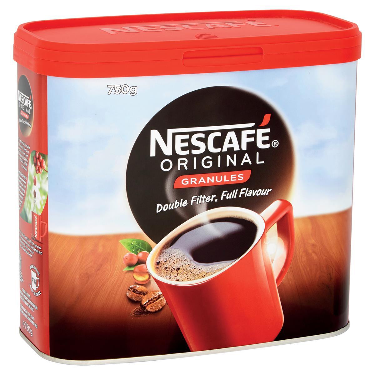 Nescafe Original Coffee Granules Tin 750g Ref 12315566 [Buy 2 Get Kit Kat Senses Chocs 200g] Jan-Mar 2020