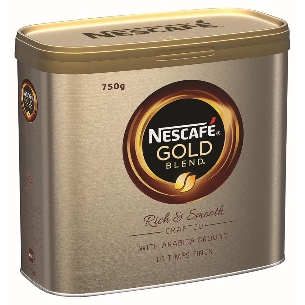 Nescafe Gold Blend Instant Coffee Tin 750g Ref 12339209 [Buy 2 Get Kit Kat Senses Chocs 200g] Jan-Mar 20