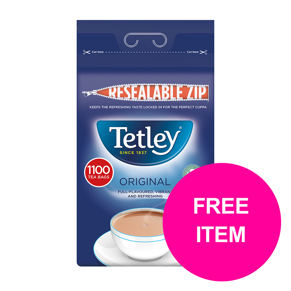 Tetley One Cup Teabags Tea Ref 1018K [Pack 1100] [Buy 2 Get Tetley Cold Infusions Starter Kit] Jan-Mar 20