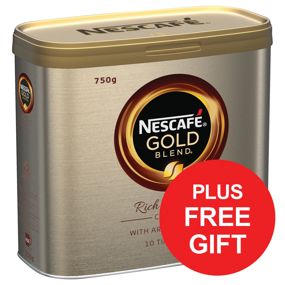 Nescafe Gold Blend Instant Coffee Tin 750g x2 Ref 12284102 [FREE Biscuits] Apr-Jun 2018