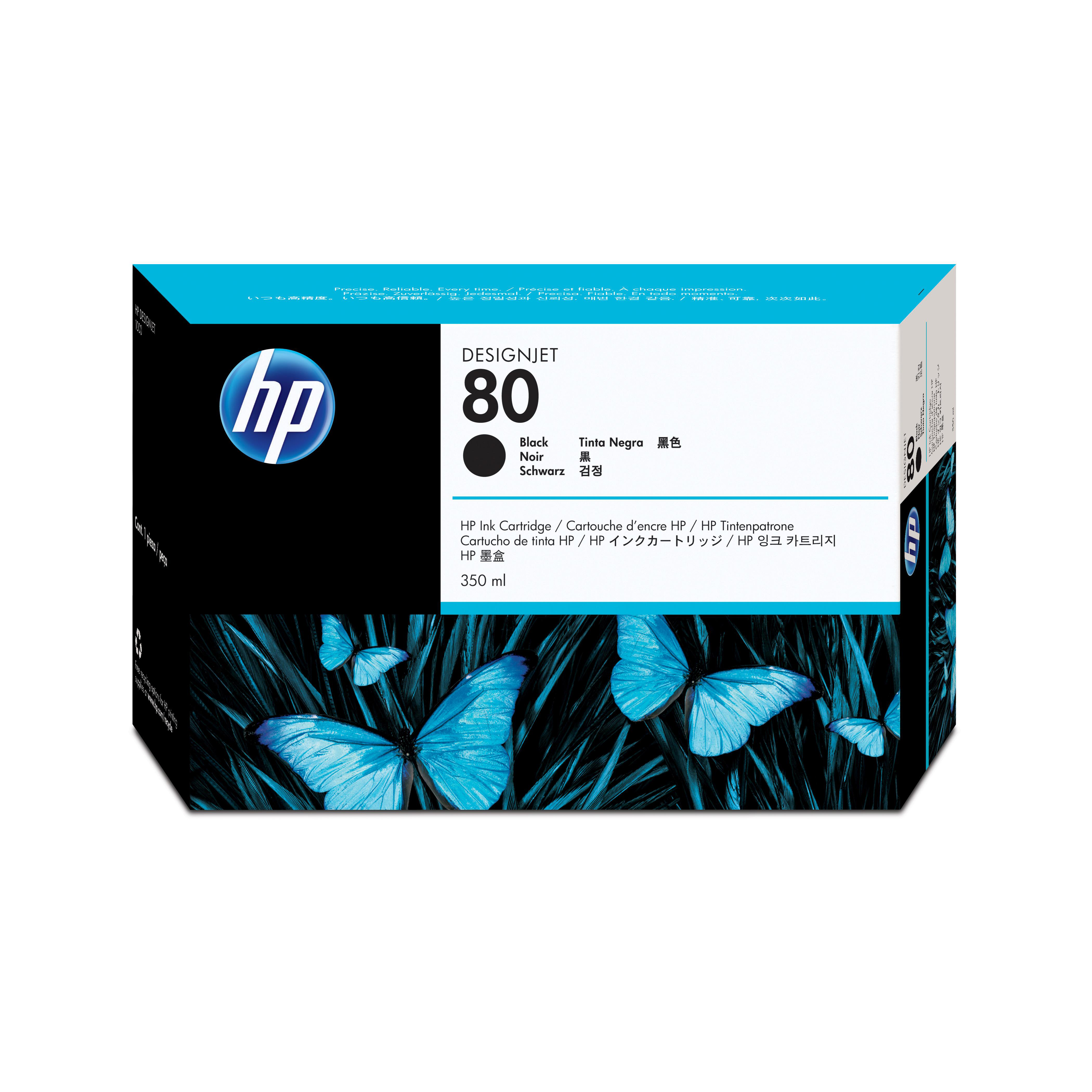 Hewlett Packard HP No.80 Inkjet Cartridge High Yield 4400pp 350ml Black Ref C4871A