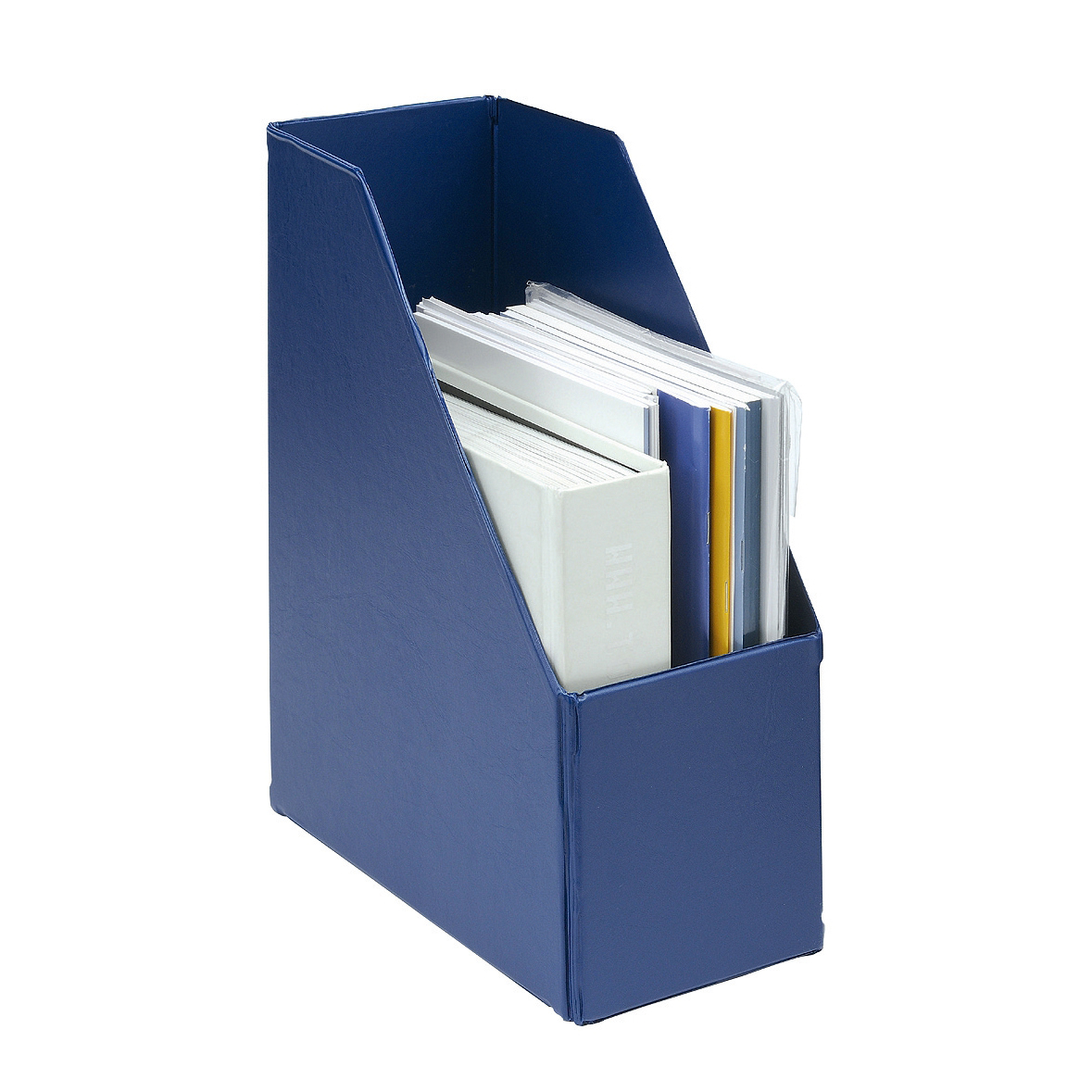 Magazine Rack File Plastic Jumbo 110mm A4 Blue [Pack 5]