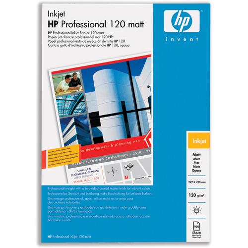 Hewlett Packard HP Professional Inkjet Paper Matt 120gsm A3 Ref Q6594A 100 Sheets