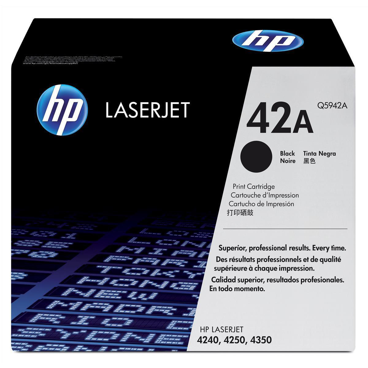 HP 42A Laser Toner Cartridge Page Life 10,000pp Black Ref Q5942A