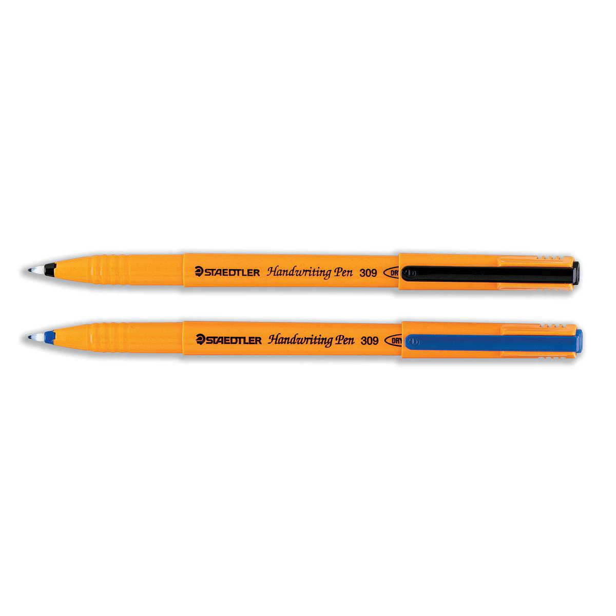 Staedtler 309 Handwriting Pen Fibre Tipped 0.8mm Tip 0.6mm Line Black Ref 309-9 Pack 10
