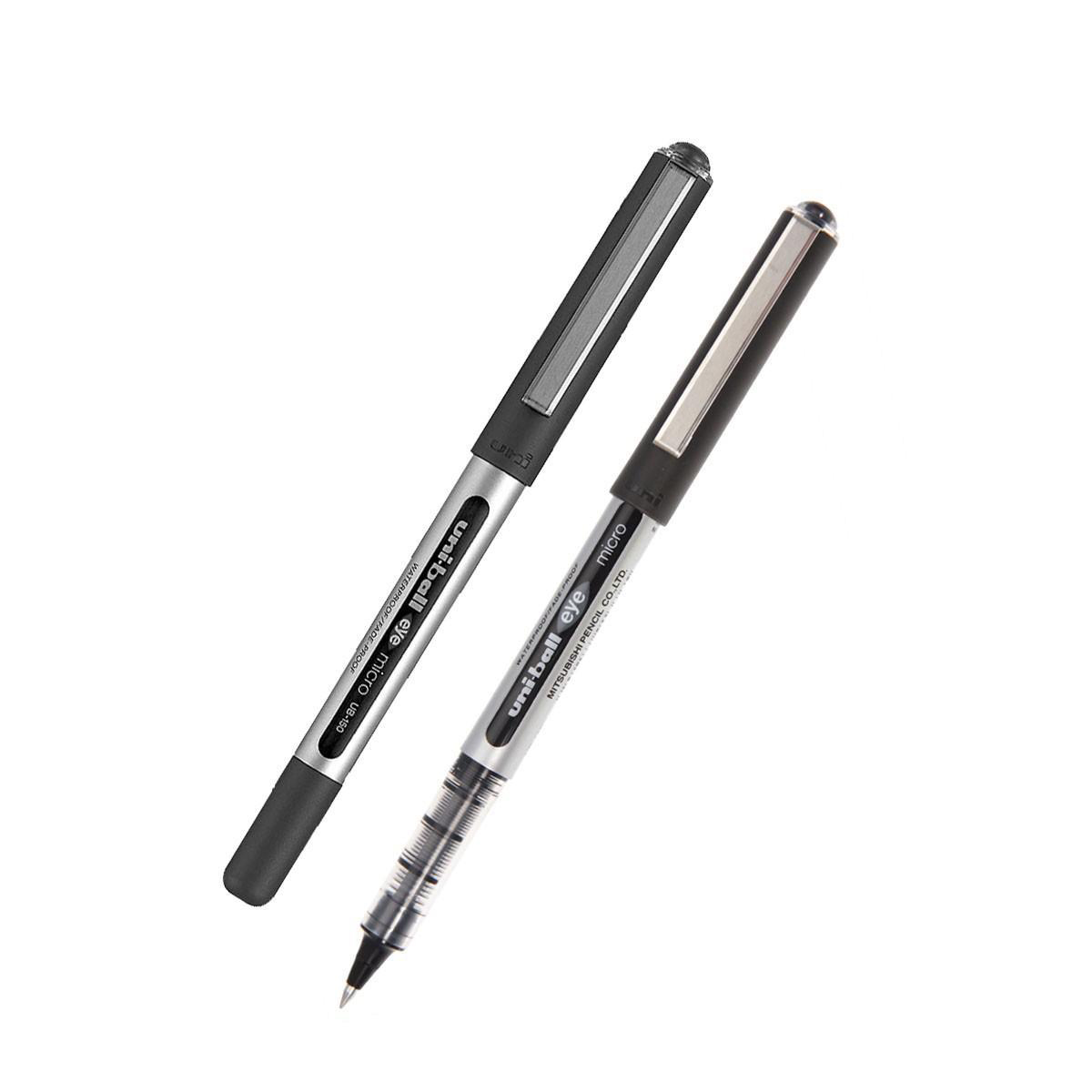 Uni-ball Eye UB150 Rollerball Pen Micro 0.5mm Tip 0.3mm Line Black Ref 162545000 [Pack 12]