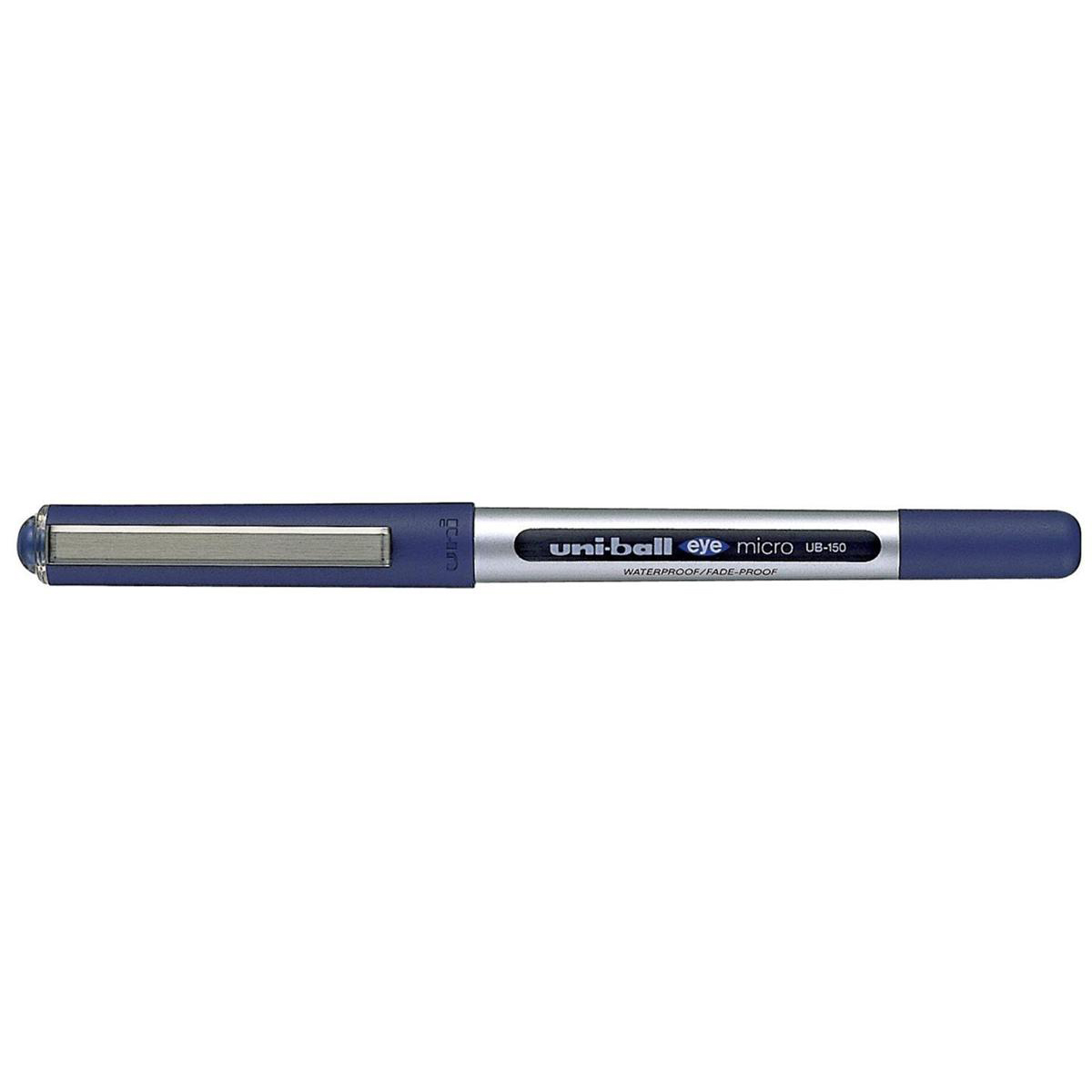 Uni-ball Eye UB150 Rollerball Pen Micro 0.5mm Tip 0.3mm Line Blue Ref 16255200 [Pack 12]