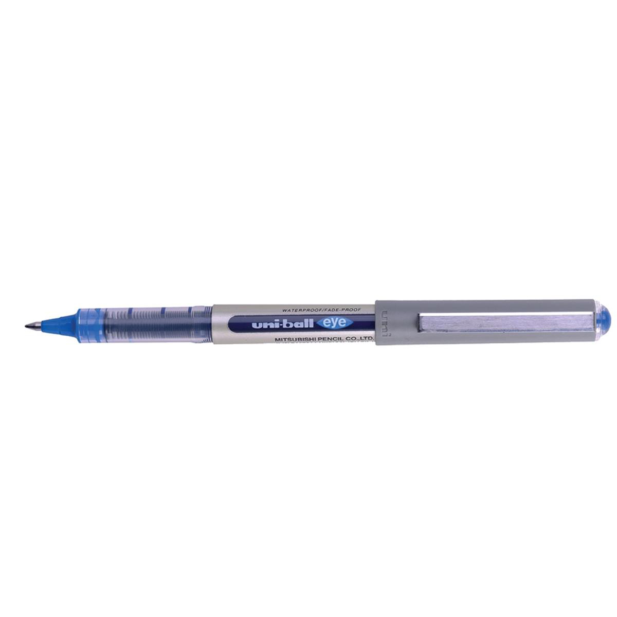 Uni-ball Eye UB157 Rollerball Pen Med Tip 0.7mm Line 0.5mm Blue Ref 162453000 [Pack 12]