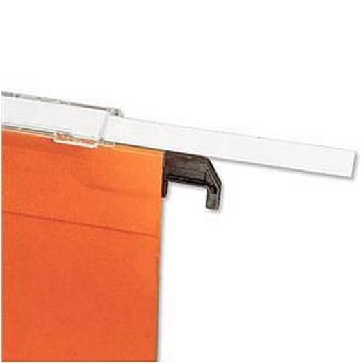 Image for Bantex Flex Card Inserts for Lateral File Tabs White Ref 100330205 [Labels 270]