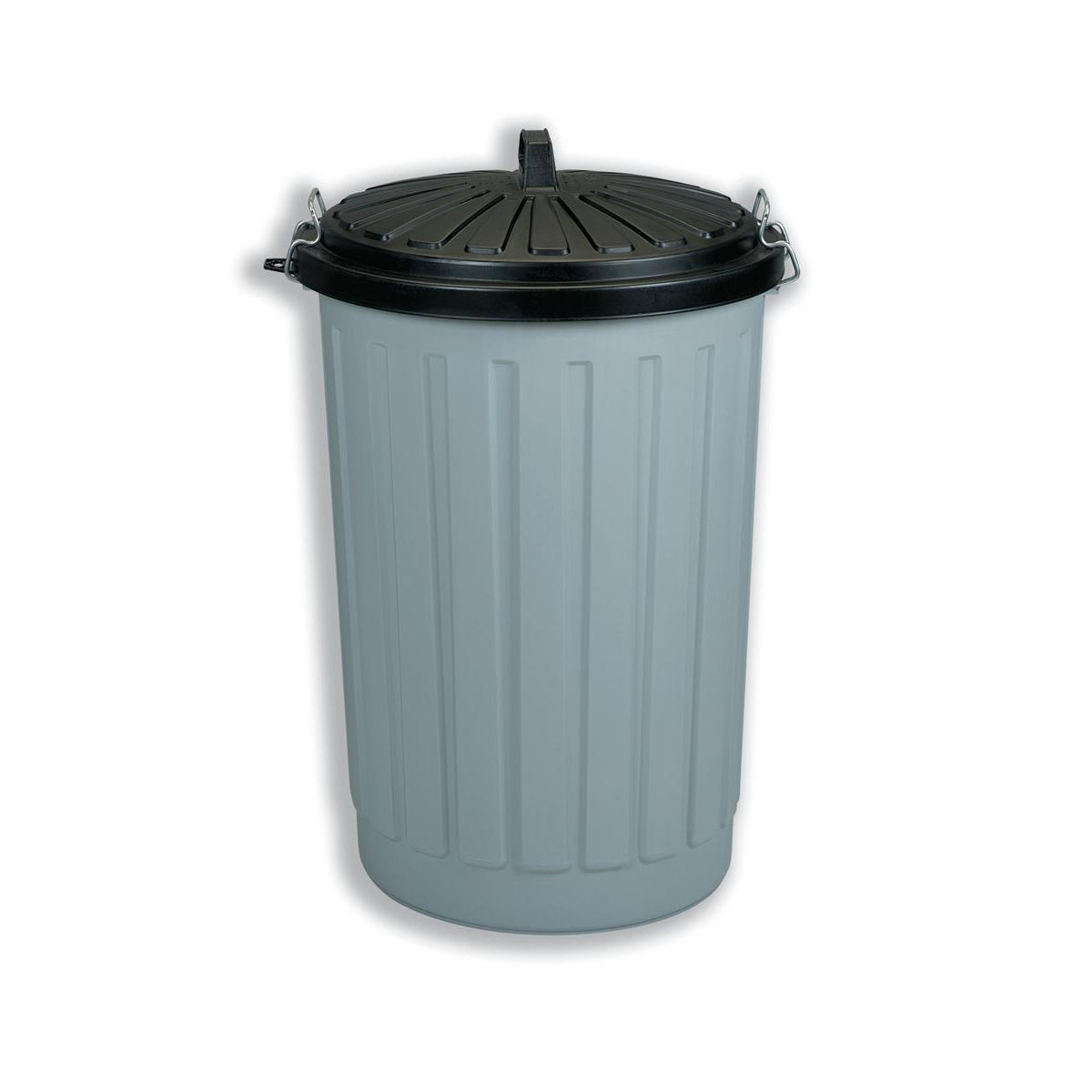 Rubbish Bins Dustbin Round with Lid plus Locking Clips 90 Litres