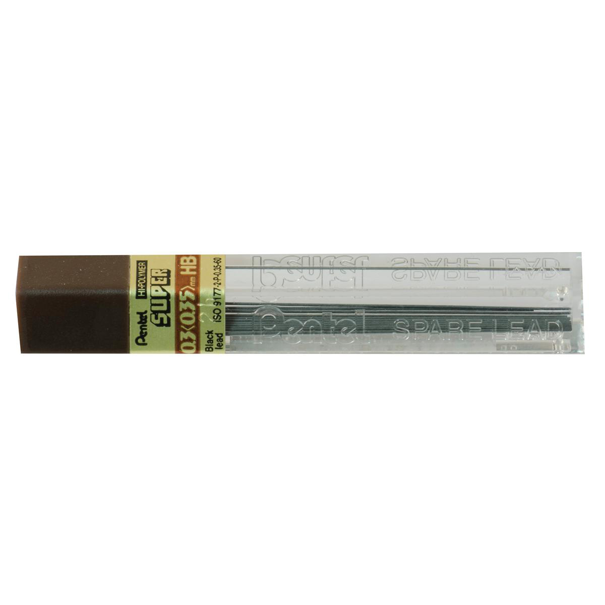 Refill Lead Extra-strong Hi-polymer in Tube of 12 x HB 0.3mm [12 Tubes]