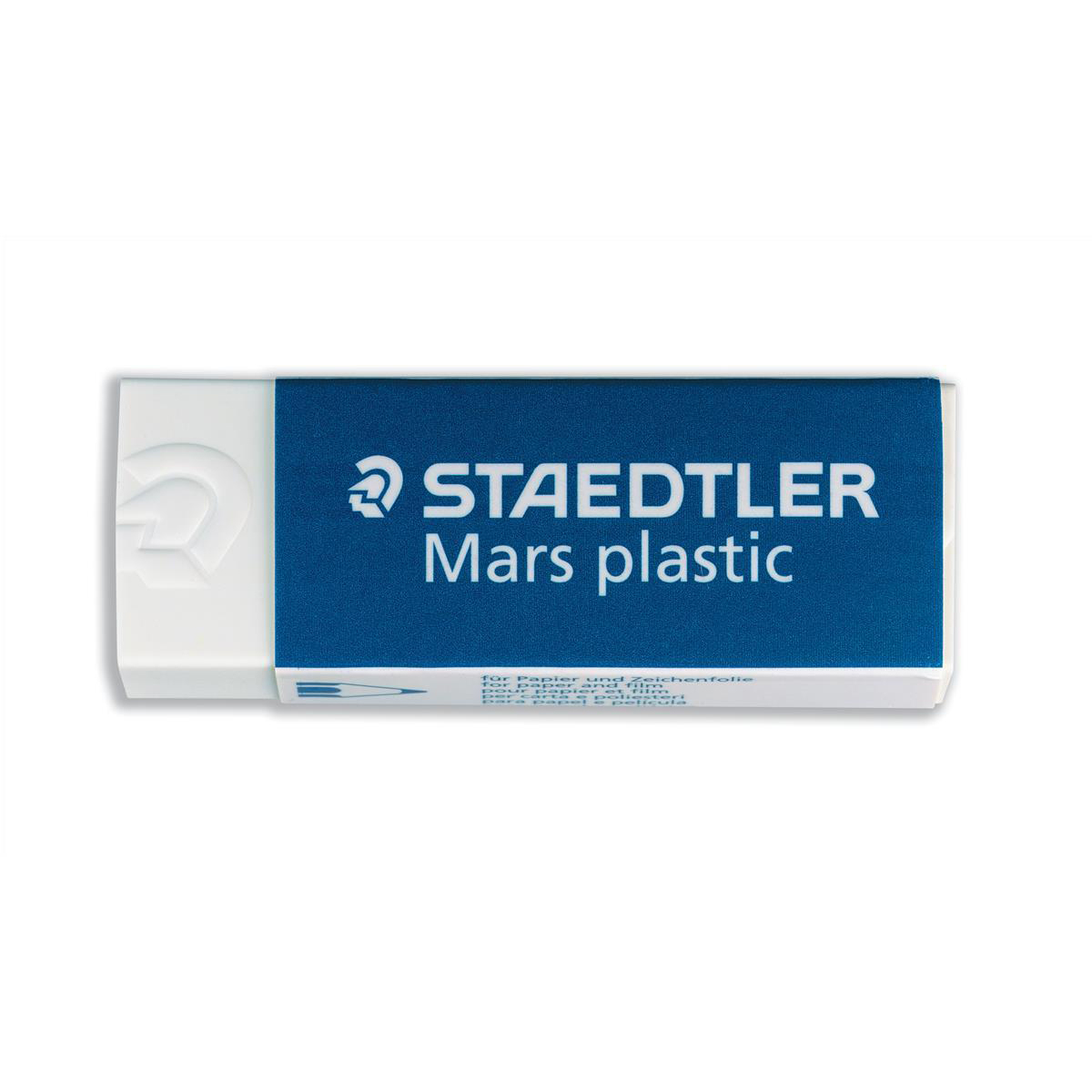 Staedtler Mars Plastic Eraser Premium Quality Self-cleaning 65x23x13mm Ref 52650 Pack 20