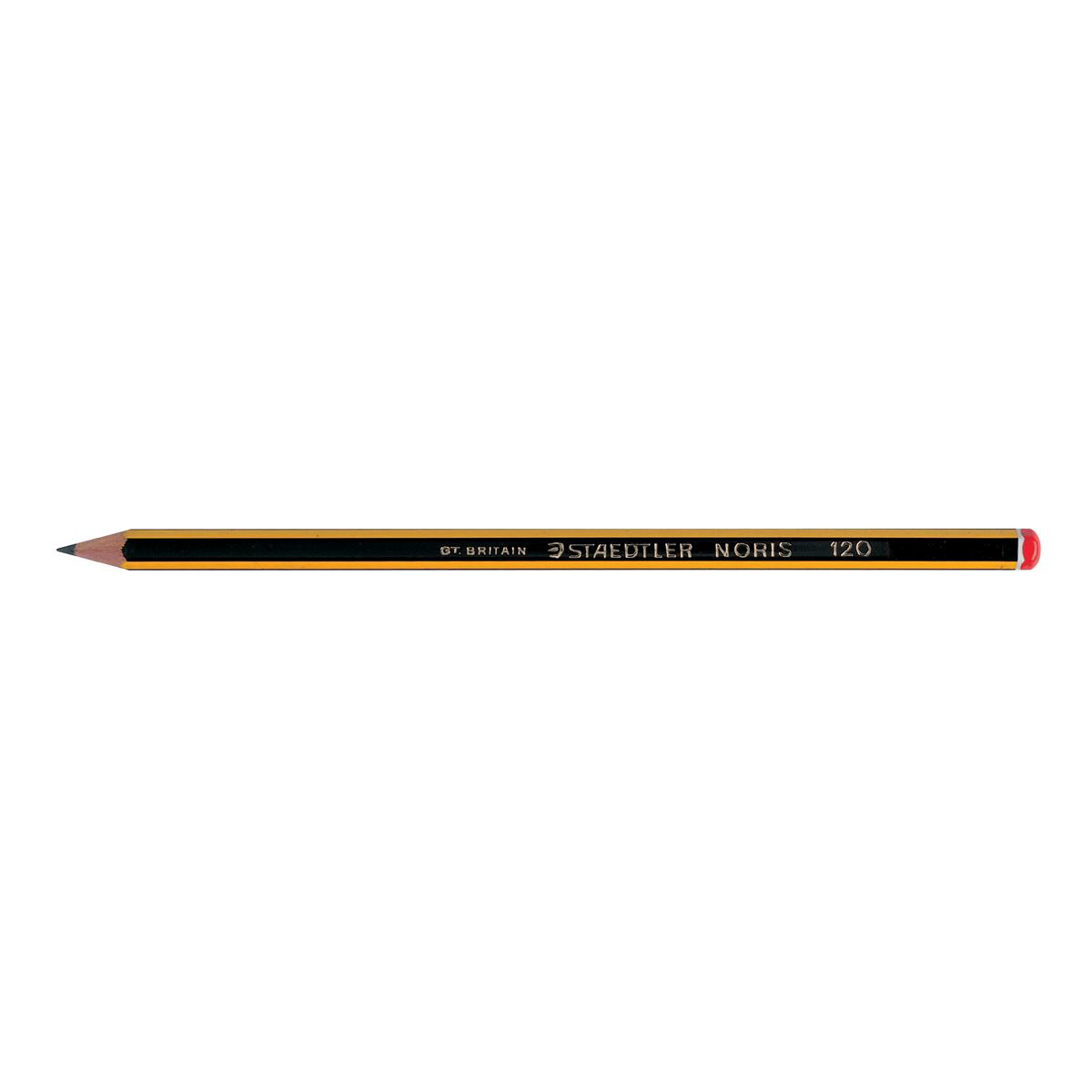 Pencils (Wood Case) Staedtler 120 Noris Pencil PEFC 2B Orange Cap Ref 120-0 Pack 12