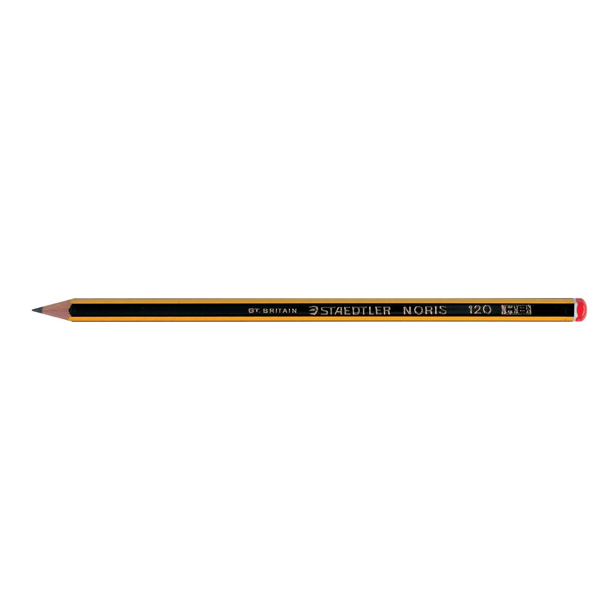 Staedtler 120 Noris Pencil HB Red Cap Ref 120-2 Pack 12