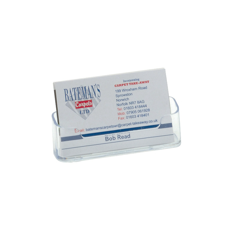 Image for Business Card Holder Desktop Single Pocket Clear