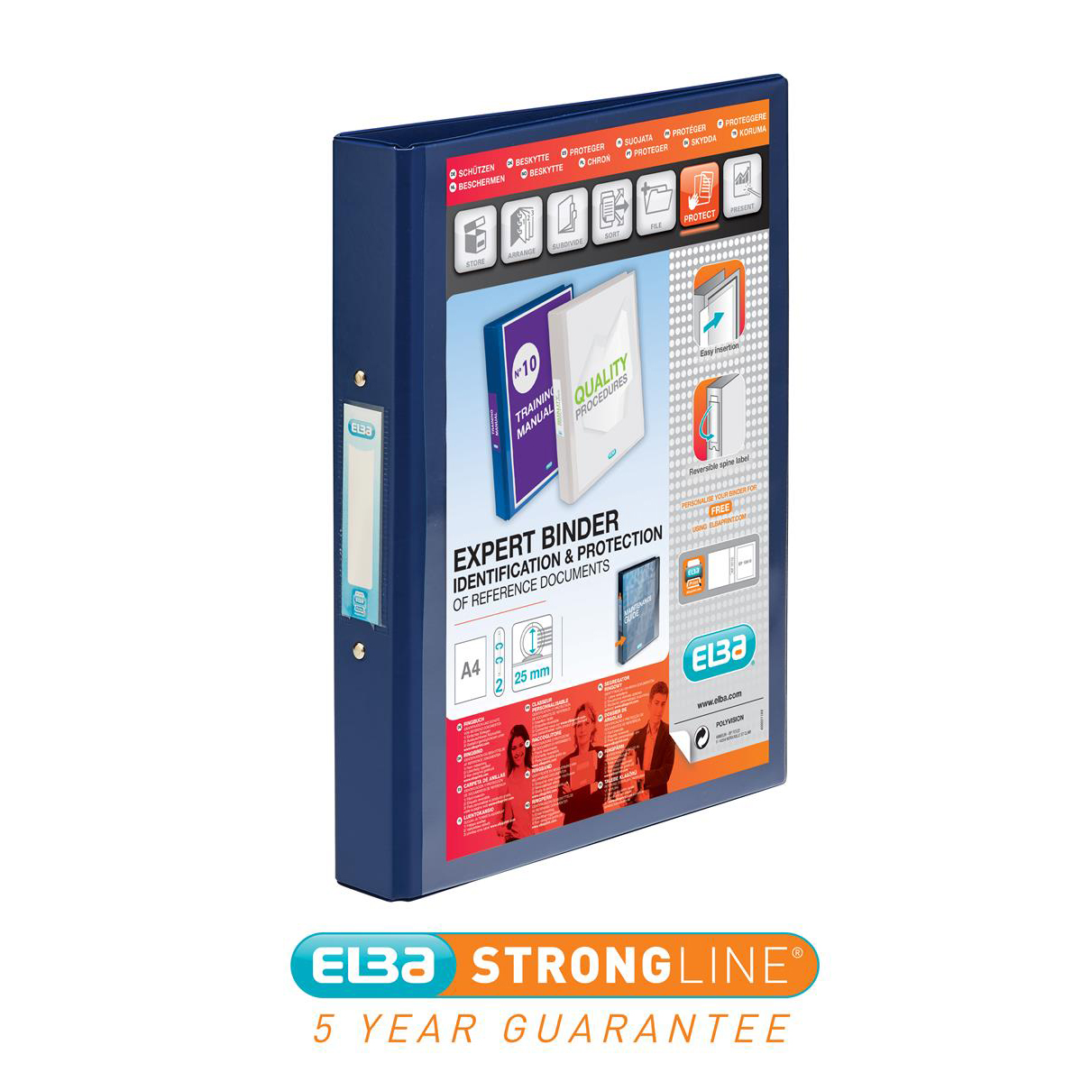Elba Vision 25mm RBnder 2R Blu 100080886