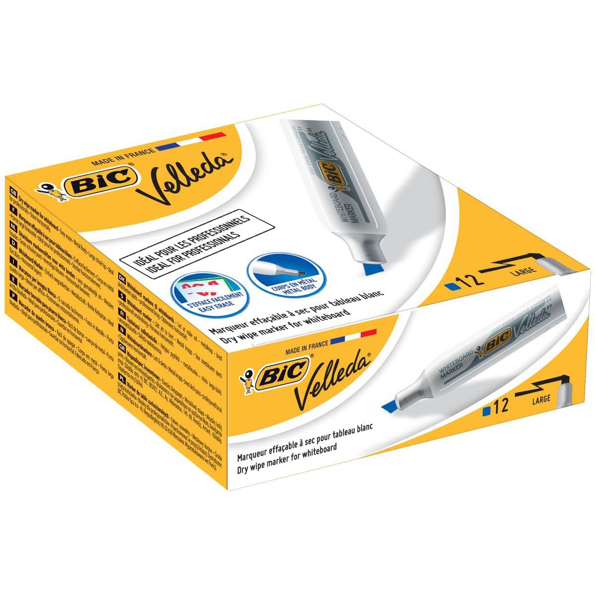 Bic 1781 Whiteboard Marker Chisel Tip Line Width 3.5-5.5mm Assorted Ref 119900178 Pack 4