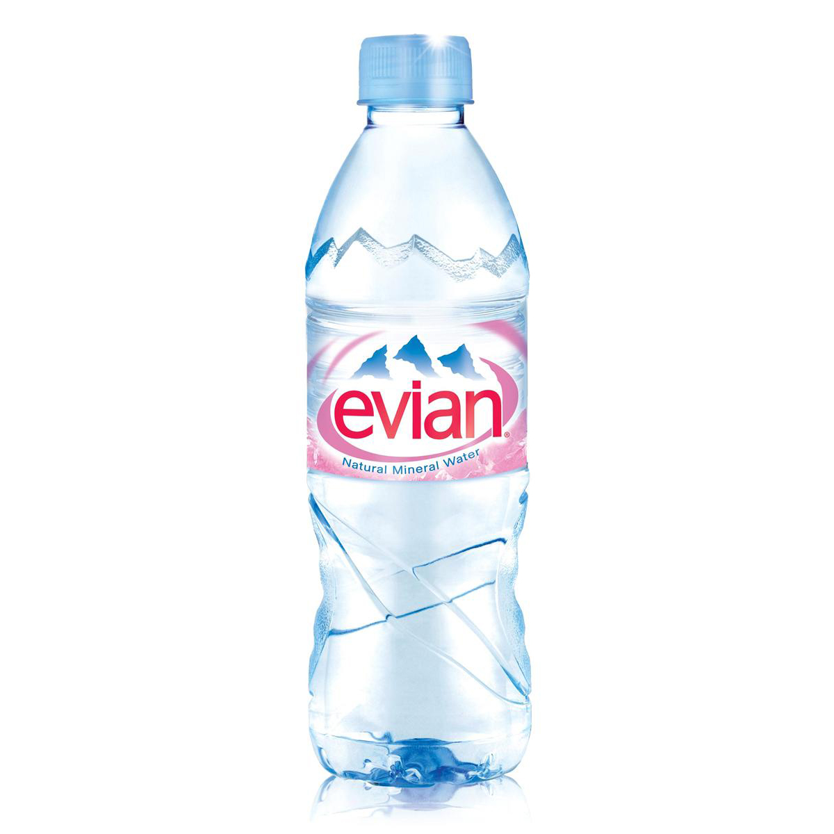 Evian Natural Mineral Water Still Bottle Plastic 500ml Ref 01210 Pack 24