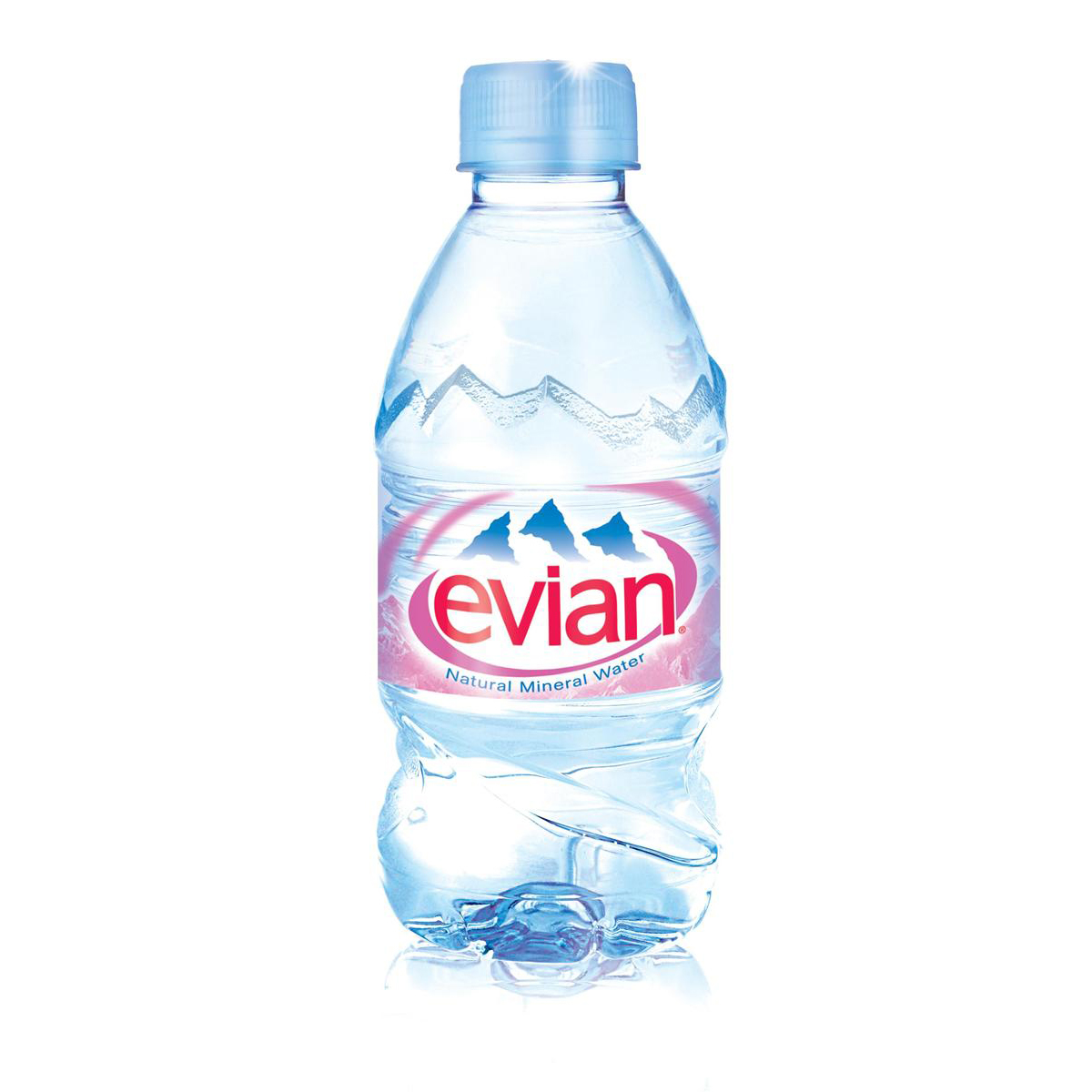 Evian Natural Mineral Water Still Bottle Plastic 330ml Ref 01310 Pack 24