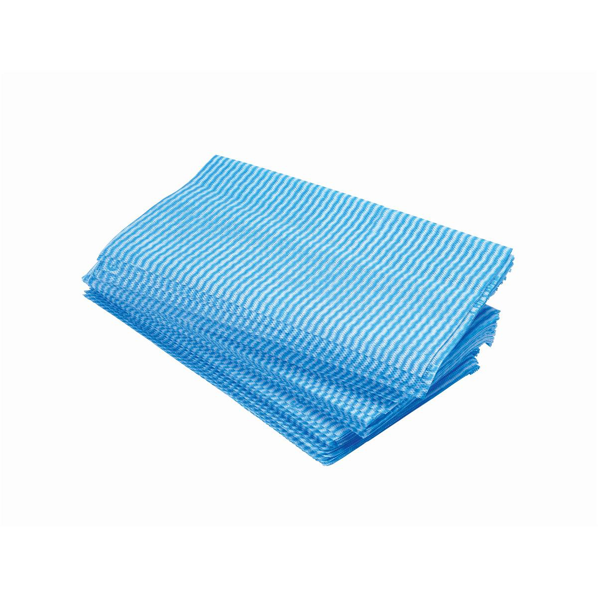 Cloths / Dusters / Scourers / Sponges 5 Star Facilities Large All Purpose cloths 610x360mm Blue Pack 50