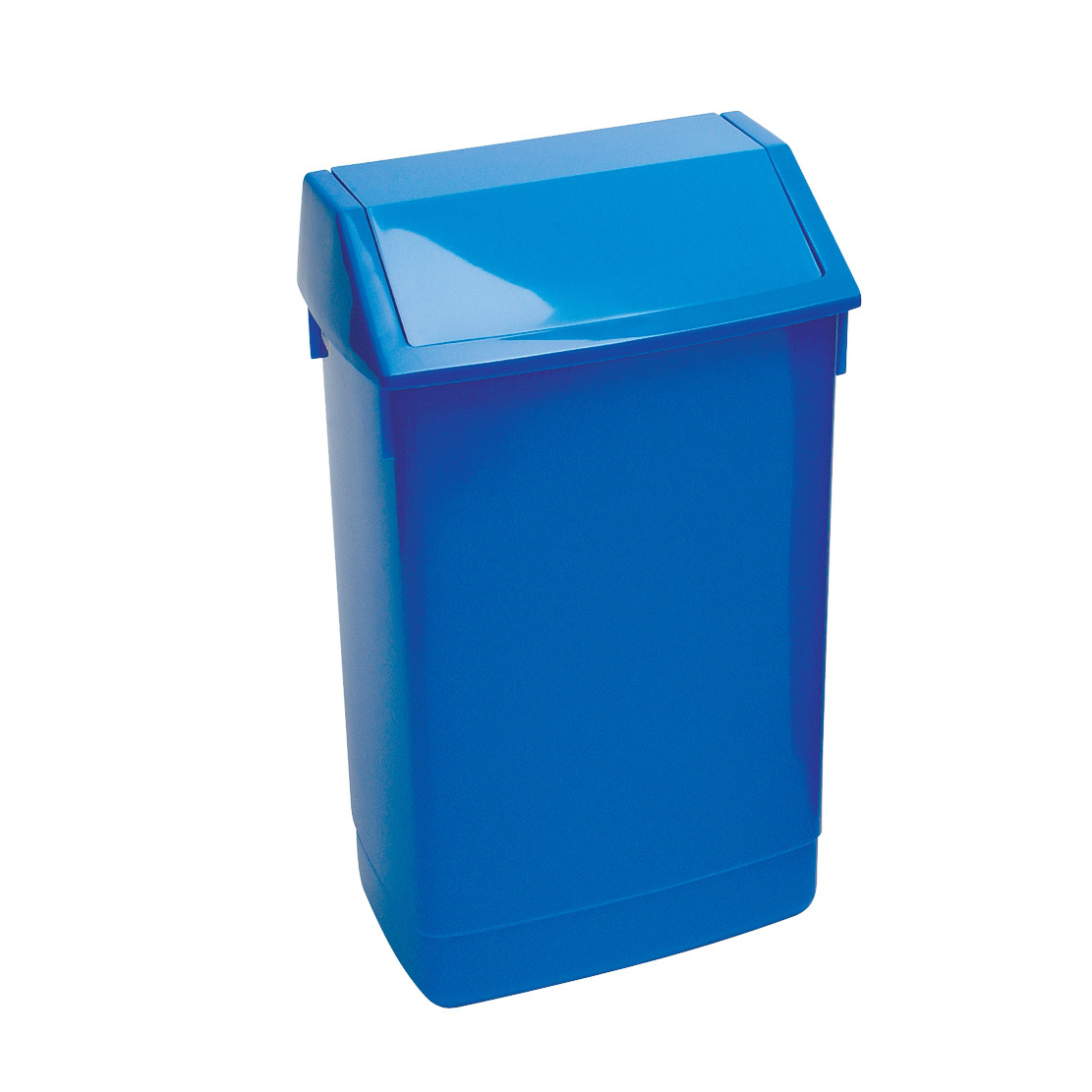 Rubbish Bins Flip Top Bin Composite Plastic 60 Litres Blue